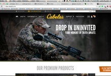 Cabela's site redesign
